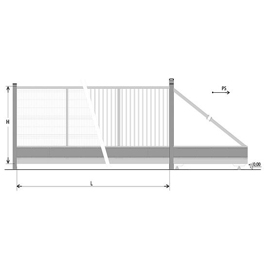 BPS Szolid úszókapuk RAL6005 6-9m