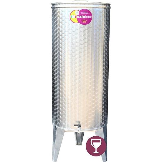 EZIOINOX INOX bortartály 180 literes álló