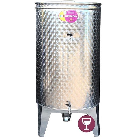 EZIOINOX INOX bortartály 320 literes álló