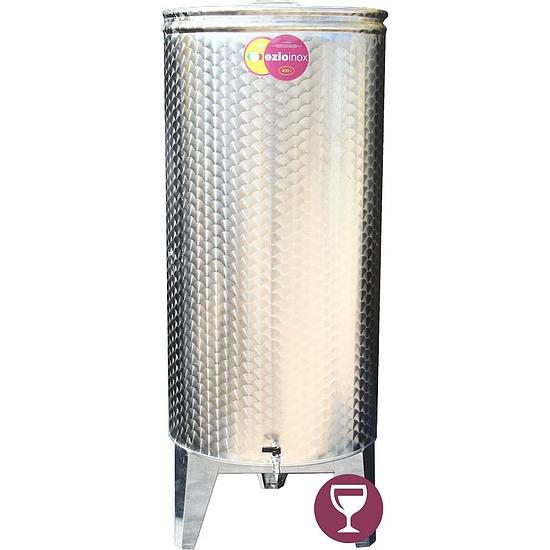 EZIOINOX INOX bortartály 400 literes álló