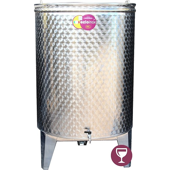 EZIOINOX INOX bortartály 500 literes álló