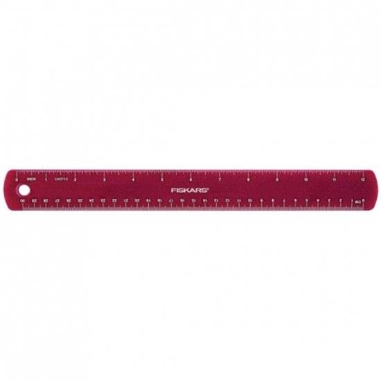 Fiskars Gyerekvonalzó rózsaszín csillámokkal, 30 cm (csak rendelésre) - 1023921