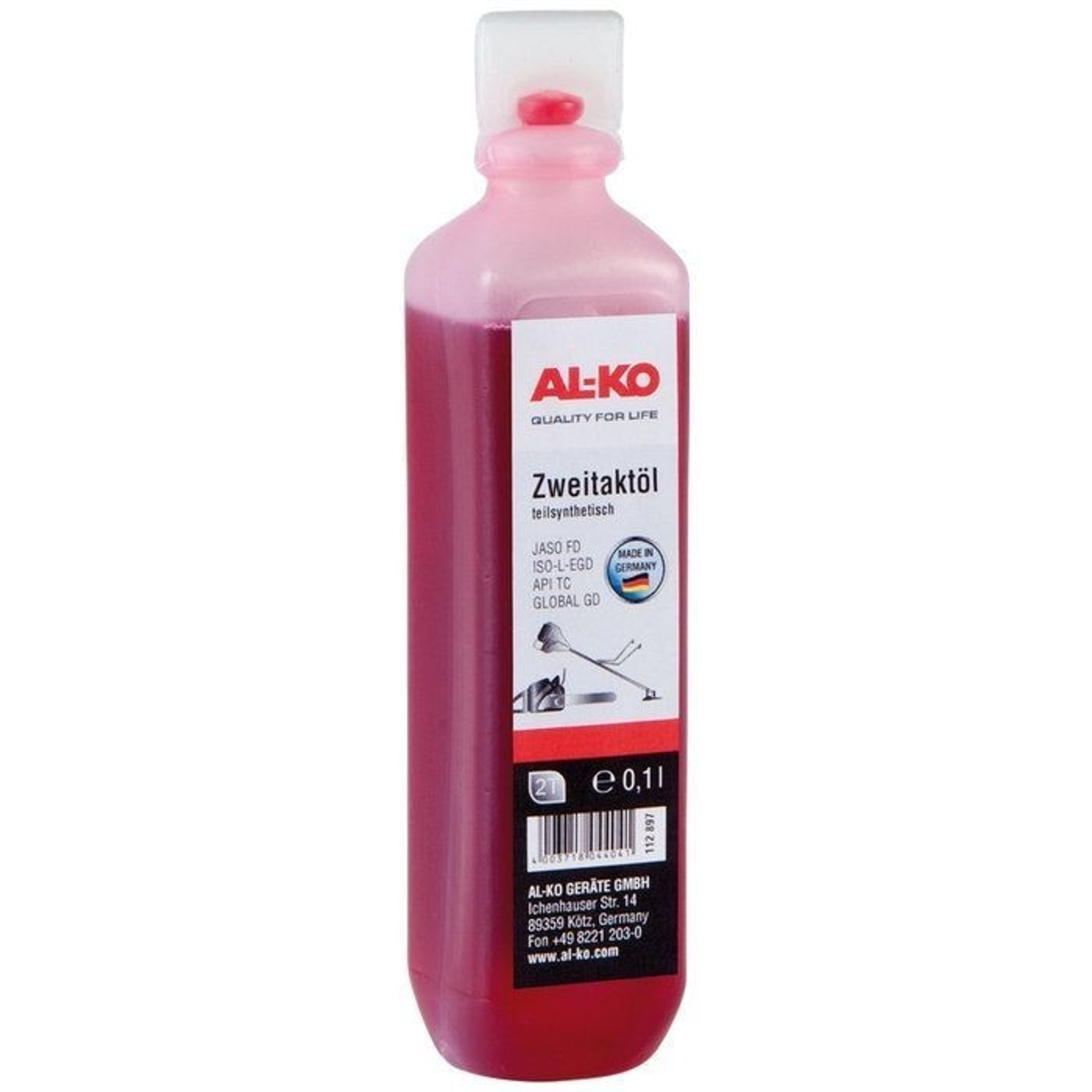 AL-KO 2-ütemű motorolaj félszintetikus - 0,1l 112916