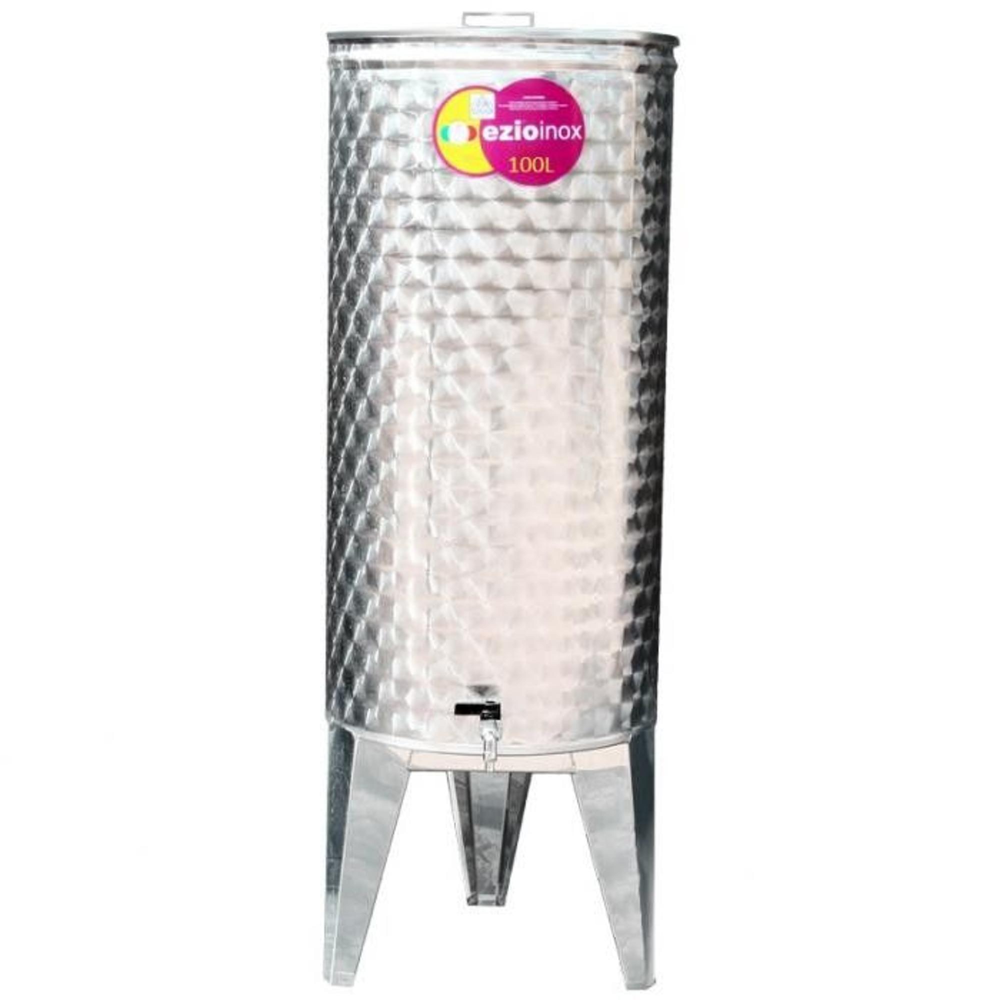 EZIOINOX INOX bortartály 100 literes álló