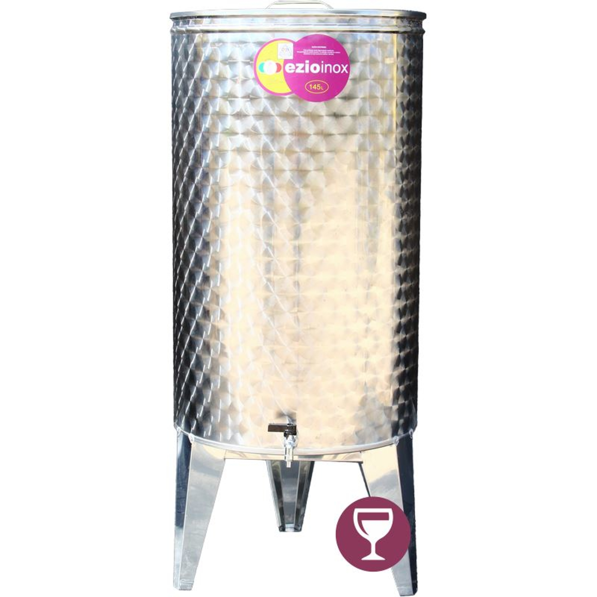 EZIOINOX INOX bortartály 145 literes álló