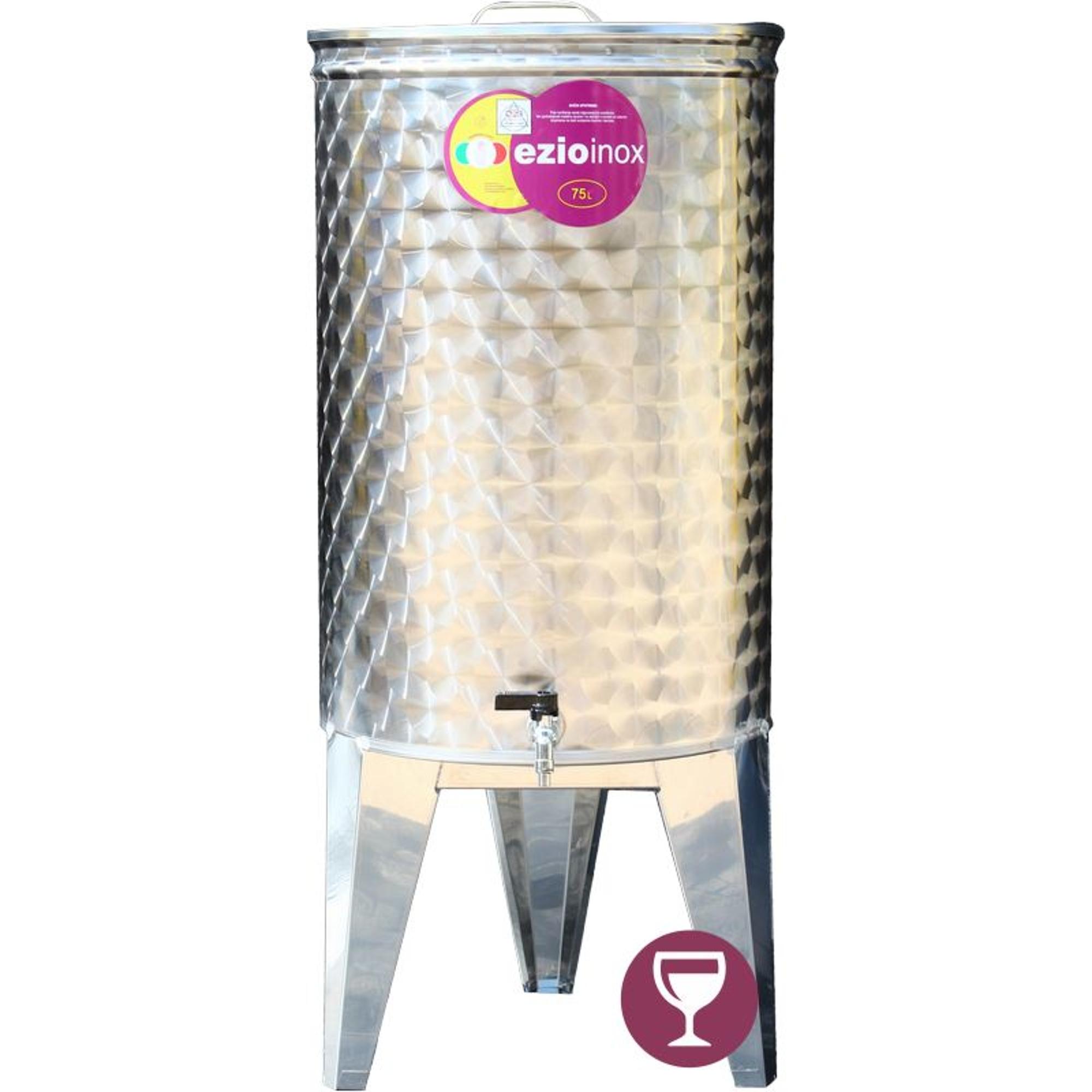 EZIOINOX INOX bortartály 75 literes álló