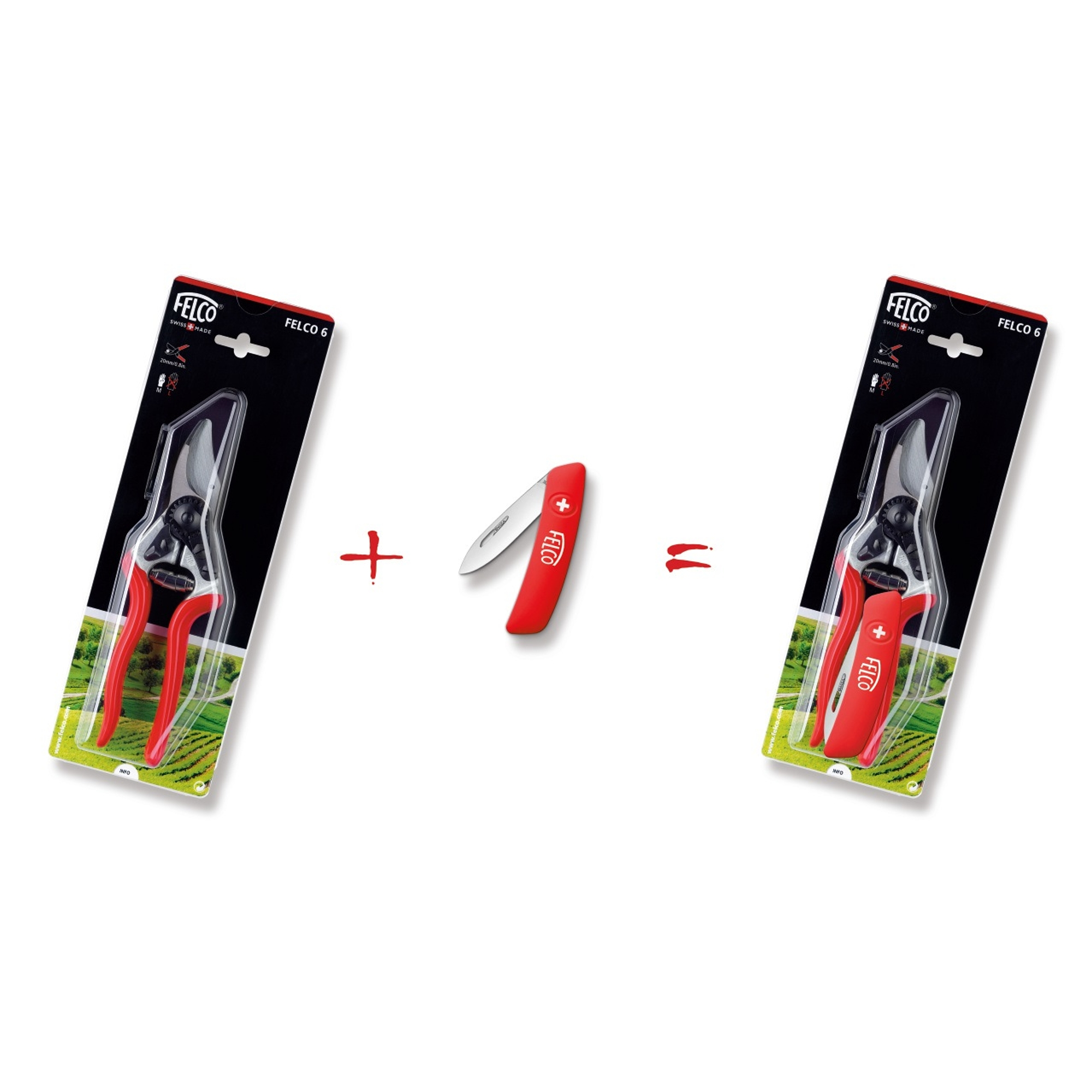 FELCO csomag P042 (Felco 6 + Felco 500 bicska)