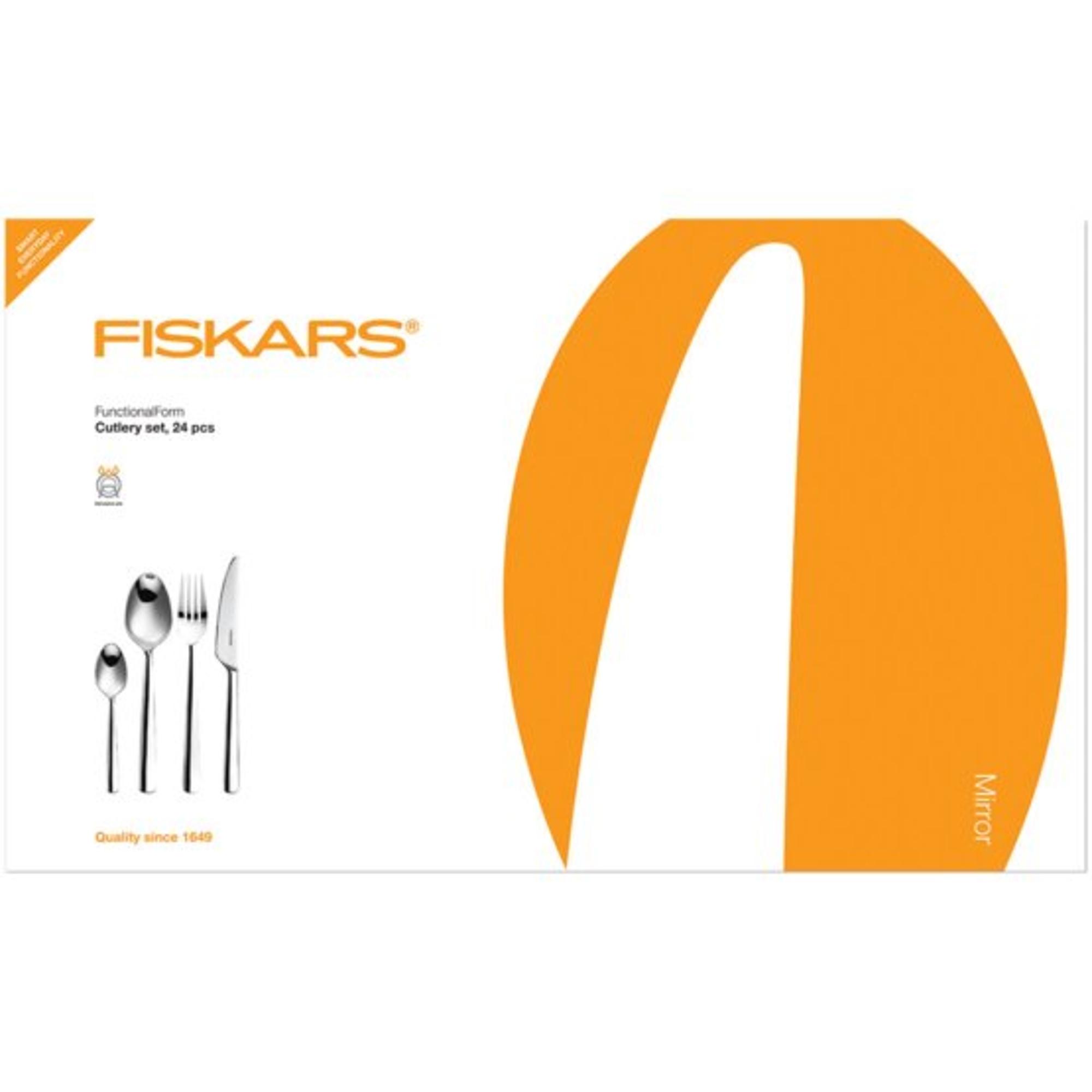 Fiskars Evőeszköz készlet, 24db-os, fényes - 1002949