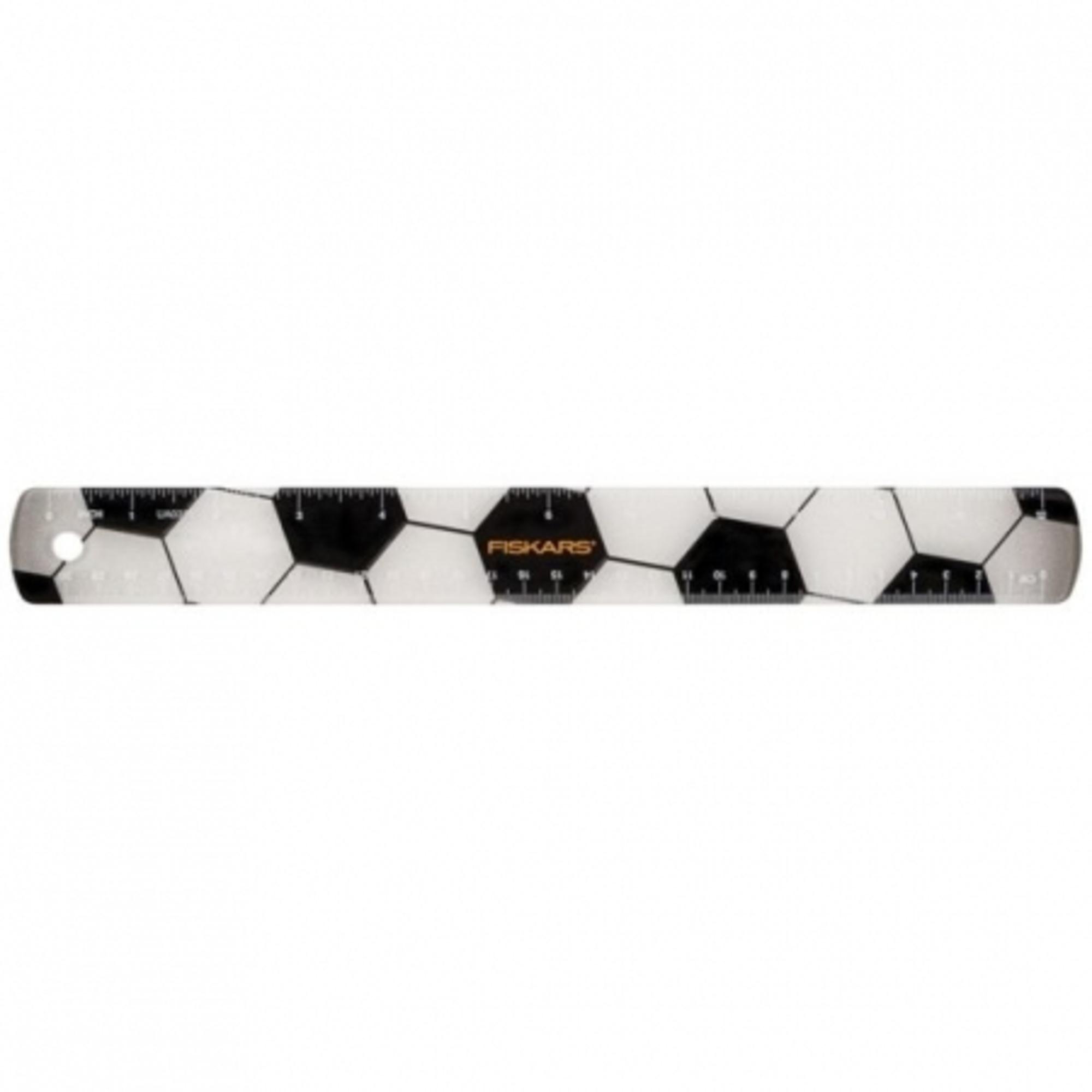 Fiskars Gyerekvonalzó focilabda motívummal, 30 cm(csak rendelésre) - 1023919