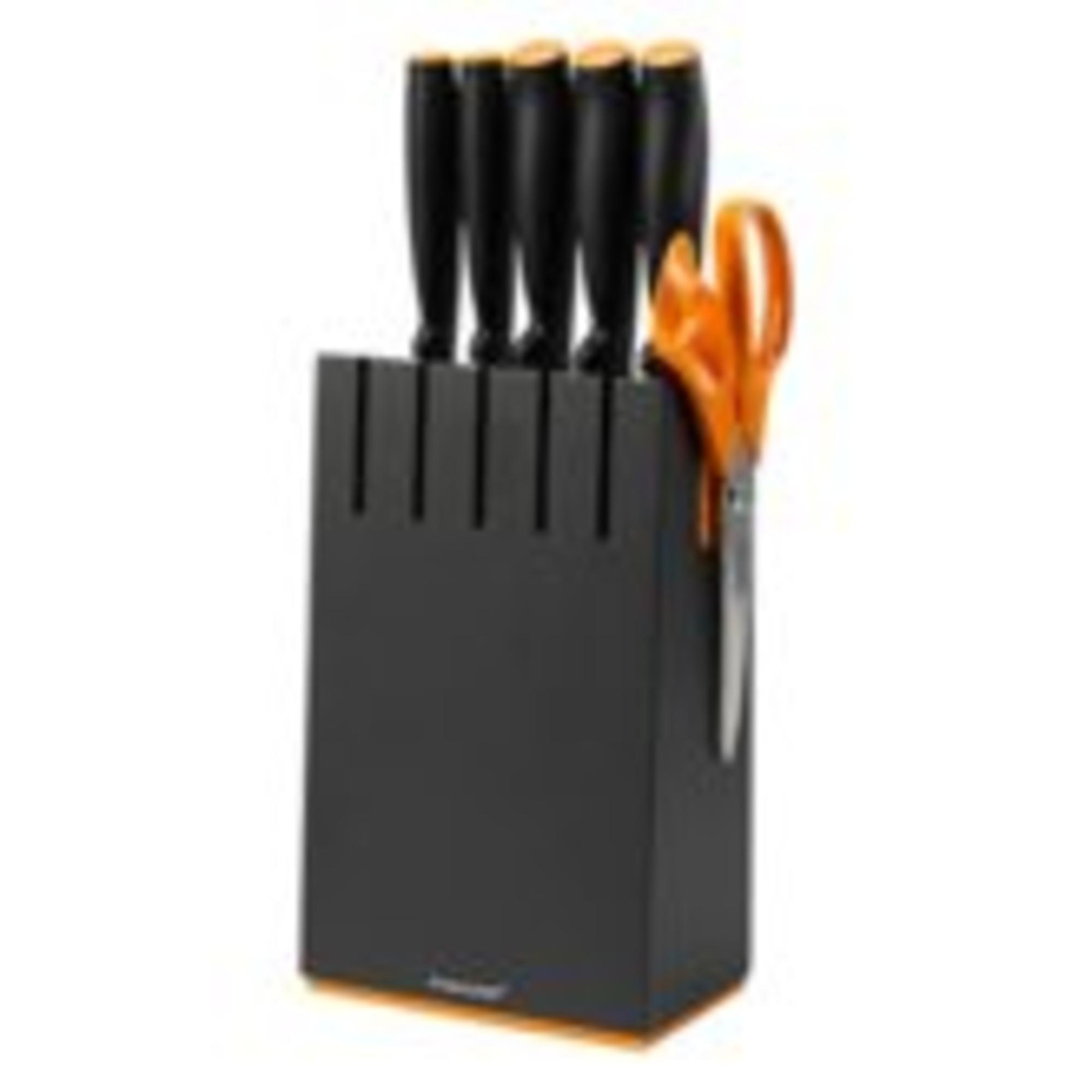 Fiskars Késblokk 5 db késsel, fekete - 1014190