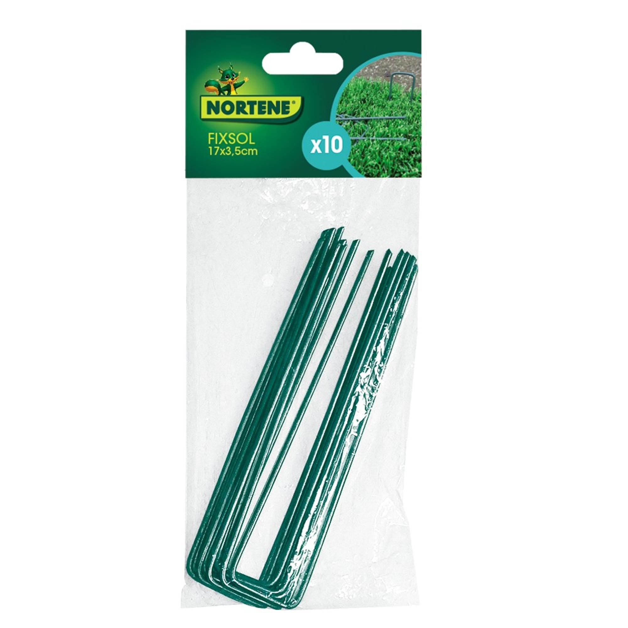 Nortene FIXSOL fém rögzítő - 17 x 3,5 cm  -  zöld - 2007291