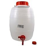 Műanyag hordó csappal 10 literes