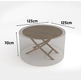Nortene COVERTOP bútortakaró 90 g/m2 - 125 x 125 x h.70 cm  -  kerek asztal - drapp - 2013602