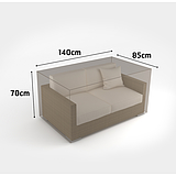 Nortene COVERTOP bútortakaró 90 g/m2 - 140 x 85 x h.70 cm  -  kanapé 2 fős - drapp - 2013610