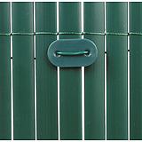 Nortene PLASTICANE félovális profilú műanyag nád, 17 mm, PVC - 1 x 3 m -  zöld - 2012166
