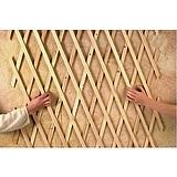 Nortene TRELLIWOOD fa apácarács - 1 x 2 Méret (m) -  barna - 2014455