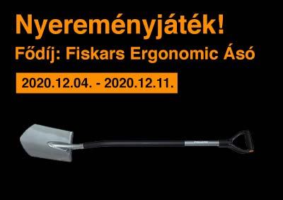 Nyereményjáték Fiskars Ergonomic Ásó